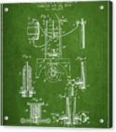 1890 Bottling Machine Patent - Green Acrylic Print