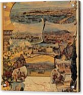 1890s Oriental Railways To Constantinople Acrylic Print