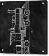 1891 Locomotive Engine Patent Acrylic Print