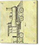1891 Locomotive Patent Acrylic Print