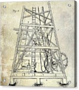1893 Oil Well Rig Patent Acrylic Print