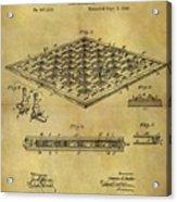 1896 Chess Set Patent Acrylic Print