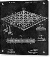 1896 Chessboard Patent Acrylic Print