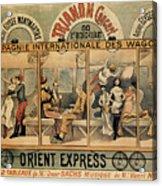 1896 Orient Express Musical Revue Paris Acrylic Print