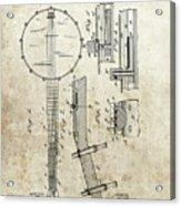 1897 Banjo Patent Acrylic Print