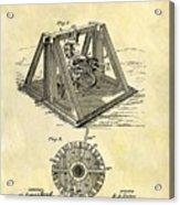 1897 Oil Rig Patent Acrylic Print