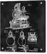 1898 Locomotive Headlight Patent Acrylic Print