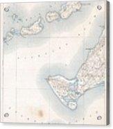 1898 Us Geological Survey Map Of Gay Head Marthas Vineyard Massachusetts Acrylic Print