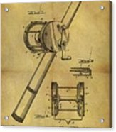 1899 Fishing Reel Patent Acrylic Print