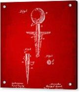 1899 Golf Tee Patent Artwork Red Acrylic Print