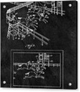 1899 Horse Track Patent Acrylic Print