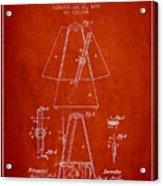 1899 Metronome Patent - Red Acrylic Print