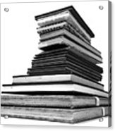 1.8.stack-of-sketch-books Acrylic Print
