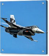 18th Aggressor Sgn Viper Pulling Up Trailing Vapes Acrylic Print