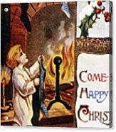 American Christmas Card Acrylic Print