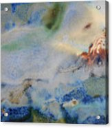 19. Blue Green Brown Abstract Glaze Painting Acrylic Print