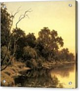 Johnstone Henry James A Backwater Of The River Murray South Australia Henry James Johnstone Acrylic Print
