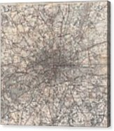 1900 Gall And Inglis' Map Of London And Environs Acrylic Print