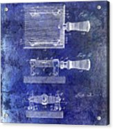 1900 Knife Switch Patent Blue Acrylic Print