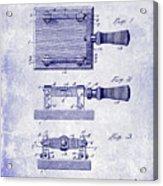 1900 Knife Switch Patent Blueprint Acrylic Print