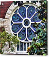 1901 Antique Uab Gothic Stained Glass Window Acrylic Print