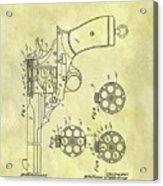 1901 Automatic Revolver Patent Acrylic Print
