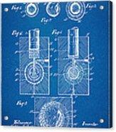 1902 Golf Ball Patent Artwork - Blueprint Acrylic Print by Nikki Marie Smith