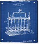1903 Bottle Filling Machine Patent - Blueprint Acrylic Print