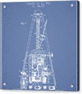 1903 Electric Metronome Patent - Light Blue Acrylic Print