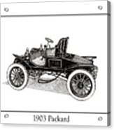 1903 Packard Acrylic Print by Jack Pumphrey