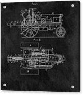 1903 Tractor Blueprint Patent Acrylic Print