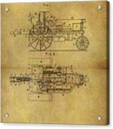 1903 Tractor Patent Acrylic Print