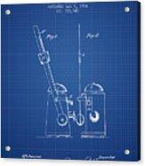 1904 Metronome Patent - Blueprint Acrylic Print