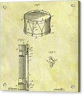 1905 Drum Patent Acrylic Print
