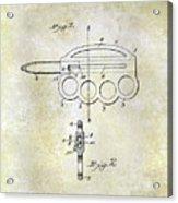 1906 Oyster Shucking Knife Patent Acrylic Print