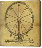 1907 Ferris Wheel Patent Acrylic Print