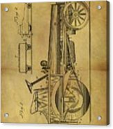 1907 Tractor Patent Acrylic Print