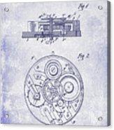 1908 Pocket Watch Patent Blueprint Acrylic Print