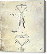 1909 Cork Extractor Patent Acrylic Print