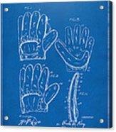 1910 Baseball Glove Patent Artwork Blueprint Acrylic Print