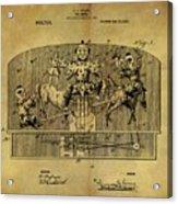 1910 Toy Circus Patent Acrylic Print