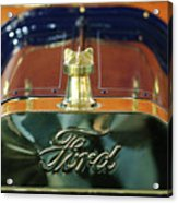 1911 Ford Model T Runabout Hood Ornament Acrylic Print by Jill Reger