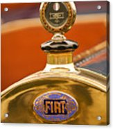1913 Fiat Type 56 7 Passenger Touring Hood Ornament Acrylic Print by Jill Reger