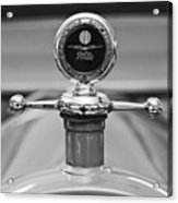 1913 White Gentlemans's Roadster Hood Ornament 2 Acrylic Print