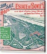 1915 Bronx Lots Sale Flyer Acrylic Print