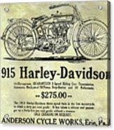 1915 Harley Davidson Advertisement Acrylic Print