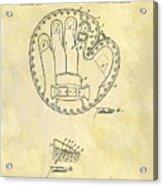 1916 Baseball Glove Patent Acrylic Print