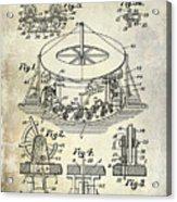 1916 Merry Go Round Patent Acrylic Print