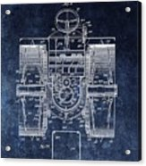 1916 Tractor Illustration Acrylic Print