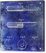 1920 Paring Knife Patent Blue Acrylic Print